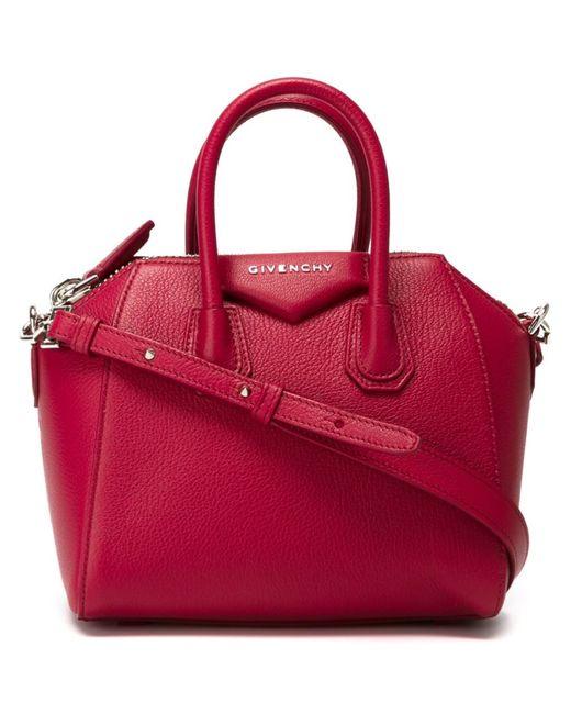 Givenchy   Женское Розовый Mini Antigona Tote