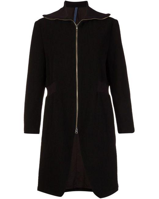 NOCTURNE 22 | Женское Чёрное Пальто На Молнии