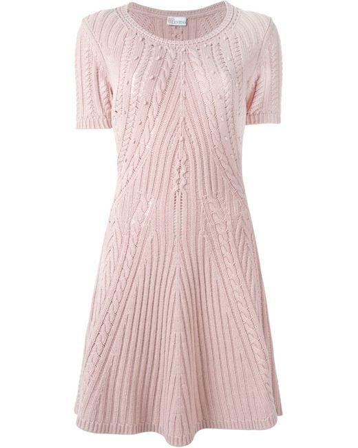 Red Valentino   Женское Розовое Вязаное Платье