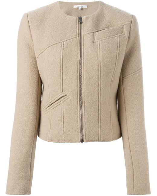 Carven | Женская Nude & Neutrals Укороченная Куртка На Молнии