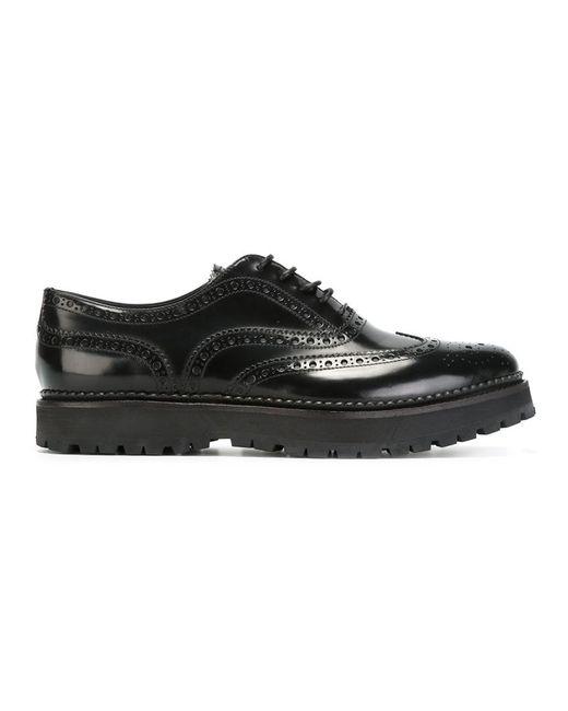 Church'S | Женские Чёрные Классические Туфли-Броги