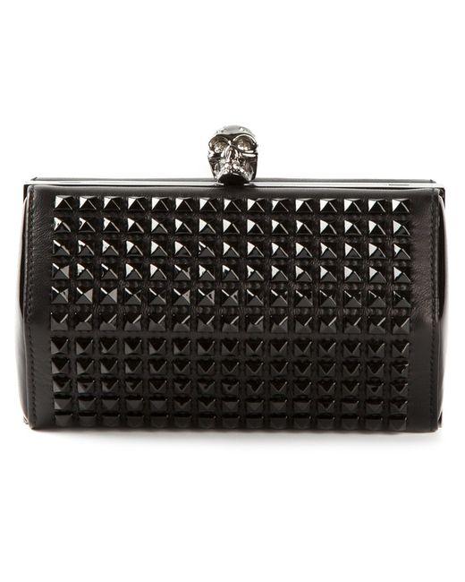 Alexander McQueen   Женское Чёрный Hexagon Studded Clutch