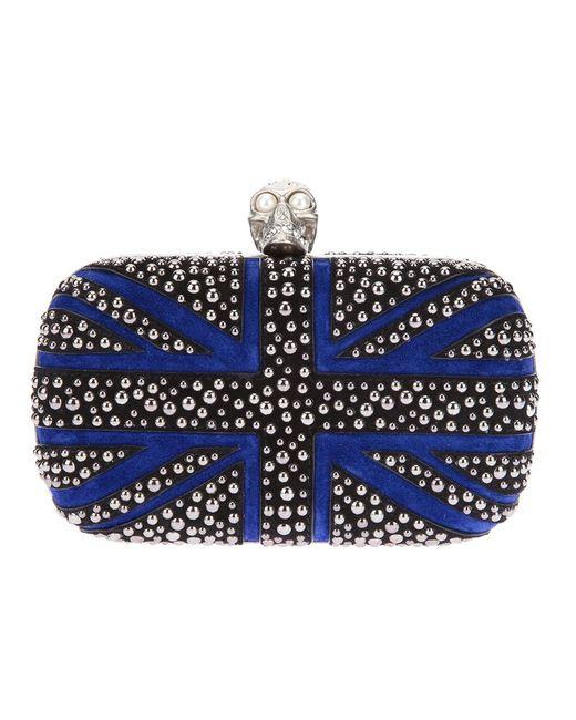 Alexander McQueen | Женское Синий Britannia Skull Box Clutch