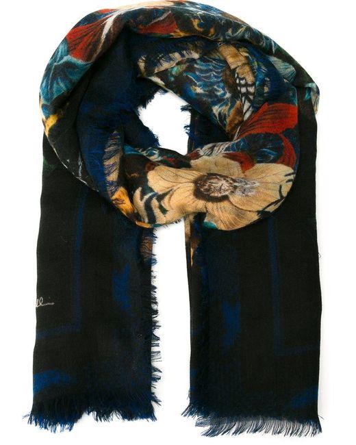 Roberto Cavalli   Чёрный Блейзер С Цветочным Принтом