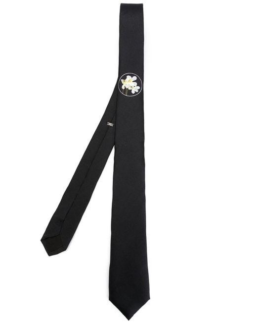 Dior Homme | Мужское Чёрный Small Flower Print Tie
