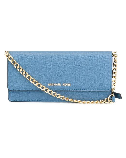 Michael Michael Kors   Женское Синий Jet Set Travel Wallet Crossbody Bag