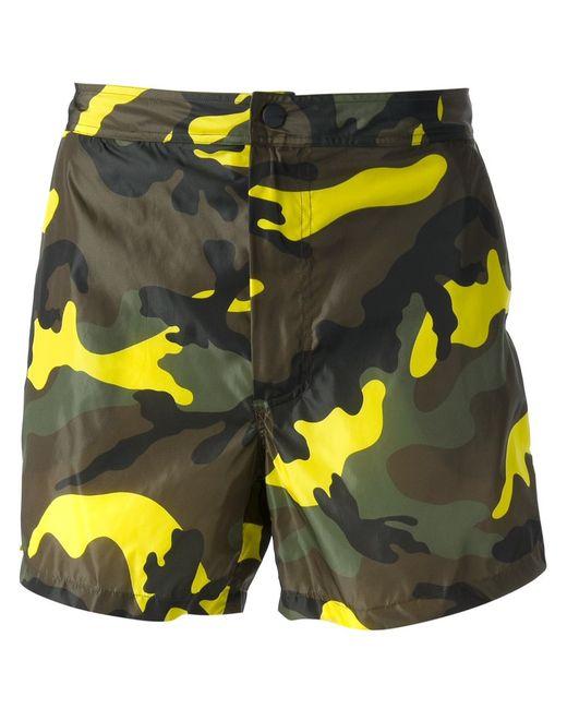 Valentino | Мужское Зелёный Camouflage Print Swim Shorts