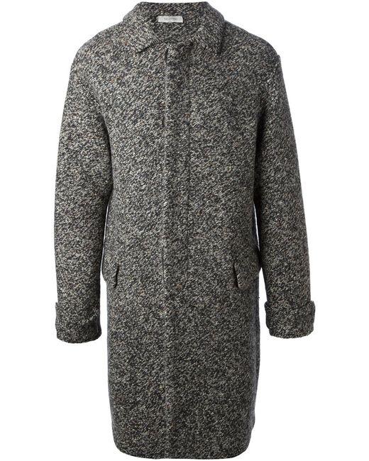 Valentino | Мужское Серое Вязаное Пальто