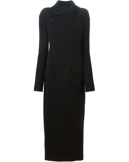 Haider Ackermann   Женское Чёрное Приталенное Пальто С Разрезом