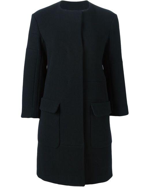Jil Sander | Женское Чёрное Однобортное Пальто