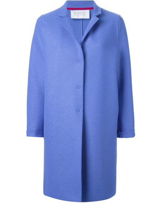 Harris Wharf London   Женское Синее Однобортное Пальто