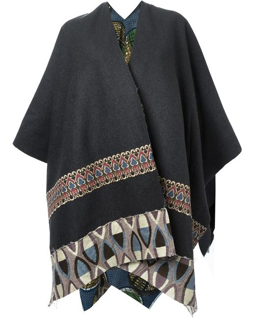 ERMANNO GALLAMINI   Женское Серый Embroidered Reversible Cape