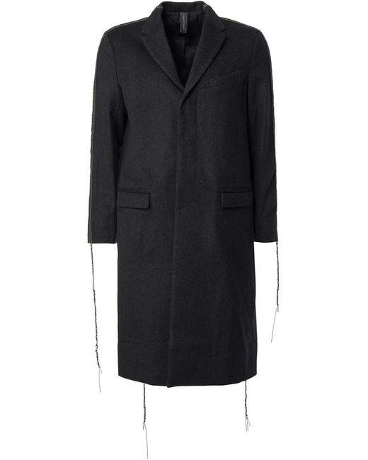 MIHARA YASUHIRO | Мужское Чёрное Пальто С Видными Швами