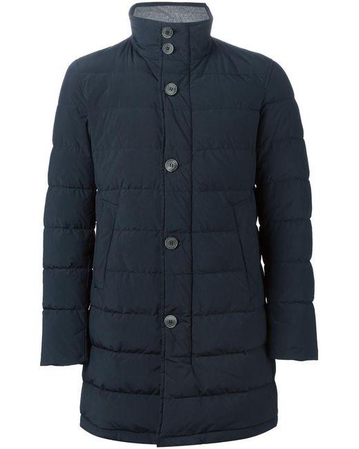 Herno | Мужская Синяя Дутая Куртка