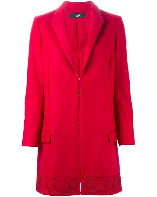 Versus | Женское Красное Пальто С Лазерной Перфорацией