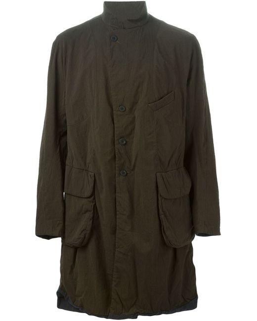 ZIGGY CHEN | Мужское Зелёное Пальто В Стиле Милитари