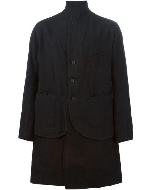 ZIGGY CHEN   Мужское Чёрное Многослойное Пальто