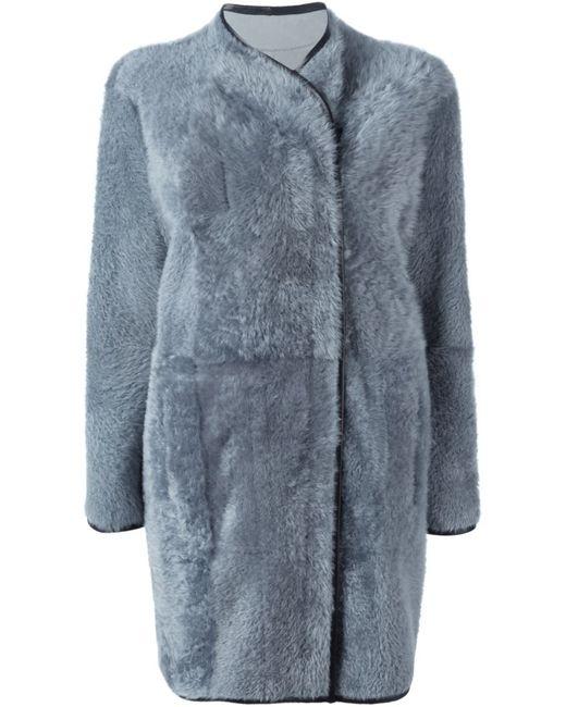 Drome | Женское Серое Двубортное Пальто На Молнии