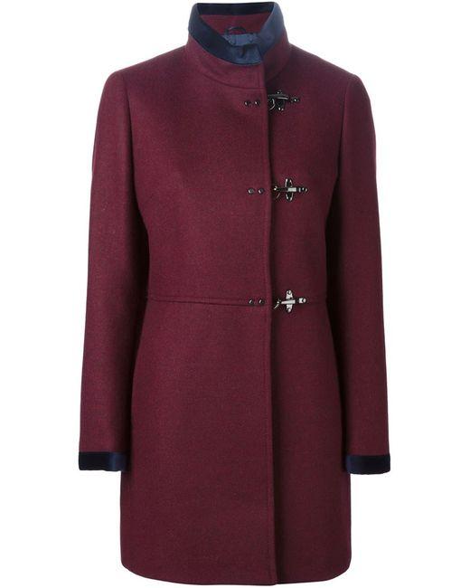Fay | Женское Красное Пальто С Воротником-Стойкой