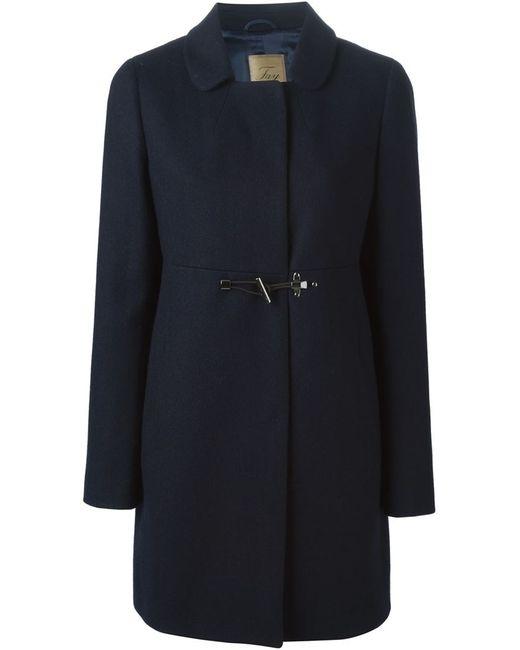 Fay | Женское Синее Однобортное Пальто