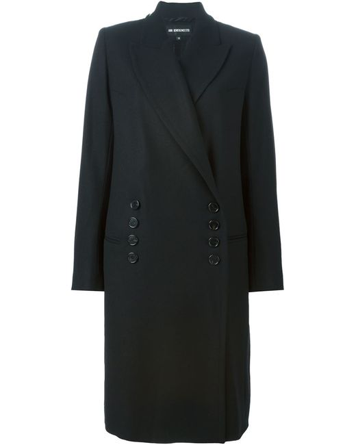 Ann Demeulemeester   Женское Чёрное Двубортное Пальто