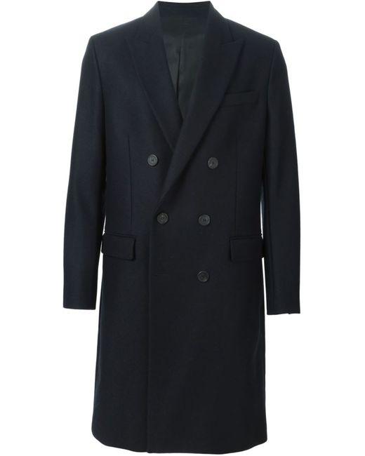 Ami Alexandre Mattiussi   Мужское Синий Double Breasted Coat