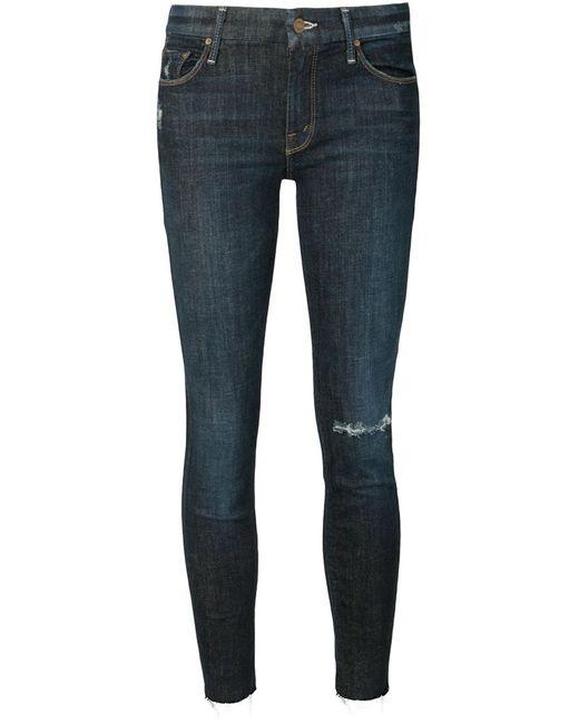 Mother   Женское Синий Ripped Skinny Jeans