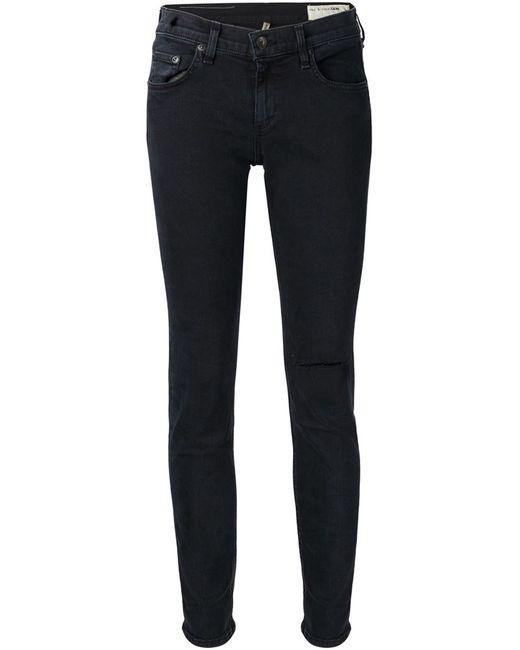 Rag & Bone | Женское Чёрный Ripped Skinny Jeans