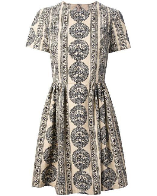 Valentino   Женское Nude & Neutrals Grifone Print Skater Dress