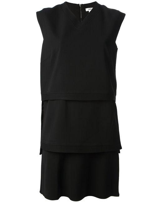 Helmut Lang | Женское Чёрное Ярусное Платье