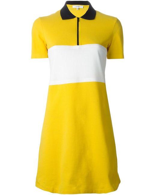 Carven | Женское Желтый Contrasting Stripe Polo Dress