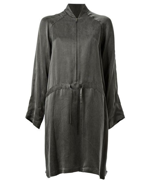 Ann Demeulemeester | Женское Зелёное Платье На Резинке