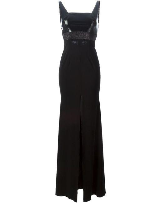 ALEX PERRY | Женское Чёрное Вечернее Платье Paulette