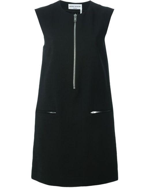 Sonia Rykiel | Женское Чёрное Платье-Шифт На Молнии