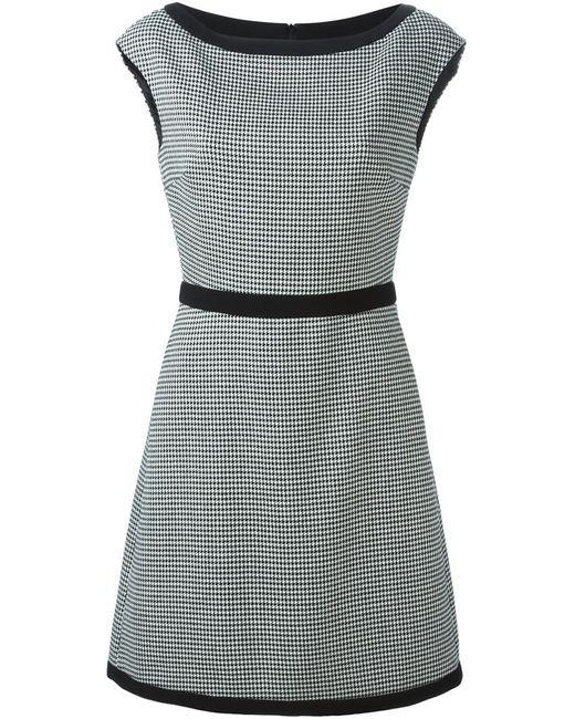 BOUTIQUE MOSCHINO | Женское Белый Houndstooth A-Line Dress