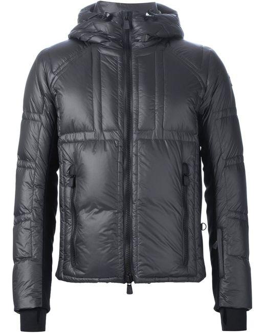 Moncler Grenoble | Мужская Серая Дутая Куртка С Капюшоном