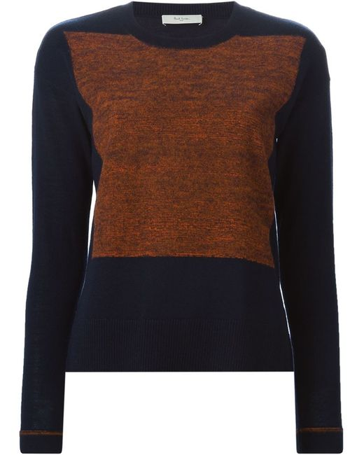 Paul By Paul Smith | Женское Синий Knitted Panel Sweater