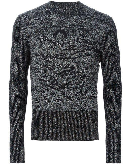 Maison Margiela   Мужское Чёрный Glitter Embellished Sweater