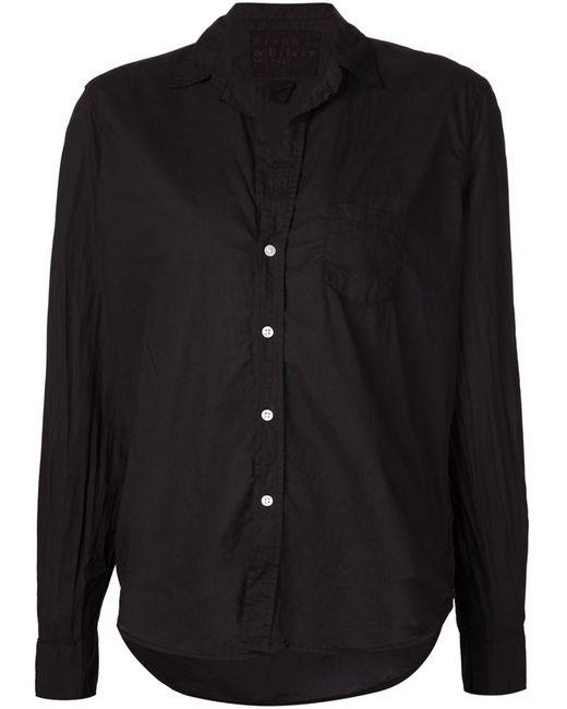 FRANK & EILEEN   Женская Чёрная Плиссированная Рубашка