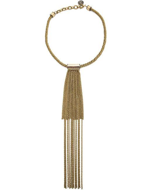 Lanvin | Женское Желтый Long Chain Fringe Necklace