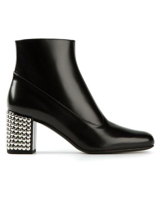 Saint Laurent | Женское Чёрный Studded Heel Ankle Boots