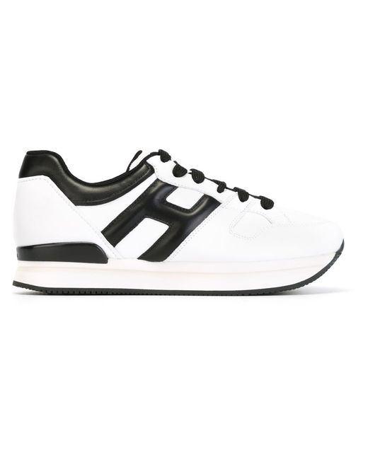 Hogan | Женское Белый Panelled Lace-Up Sneakers