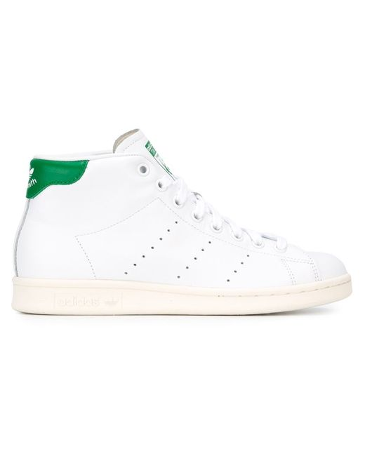 Adidas | Женские Белые Хайтопы Stan Smith