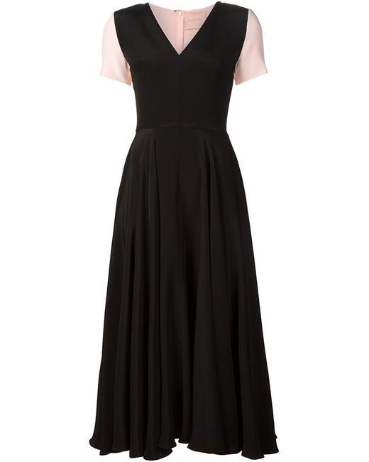 ROKSANDA | Женское Расклешенное Платье-Миди С V-Образным Вырезом