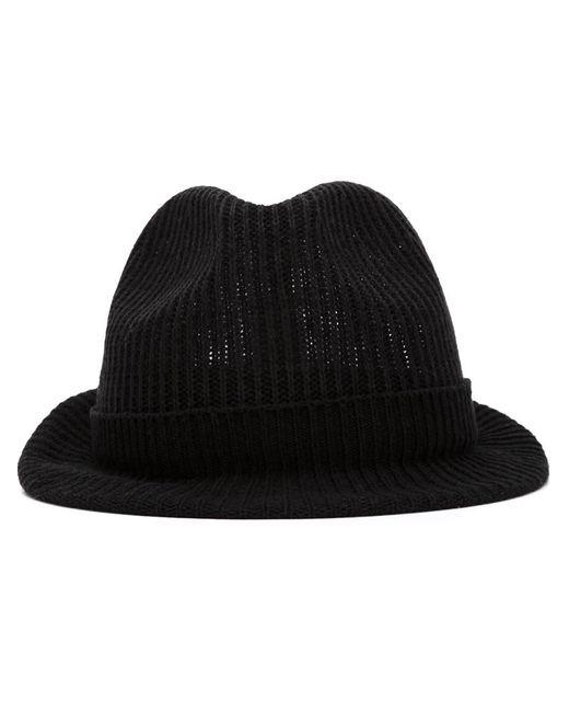 Issey Miyake | Мужская Чёрная Шляпа В Рубчик