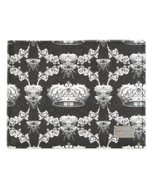 Dolce & Gabbana | Мужской Чёрный Бумажник Dauphine