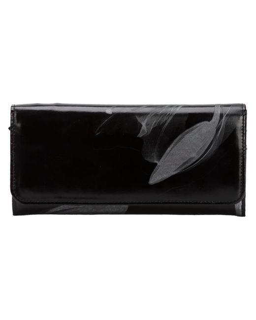 Yohji Yamamoto   Женский Чёрный Кошелек С Цветочным Принтом