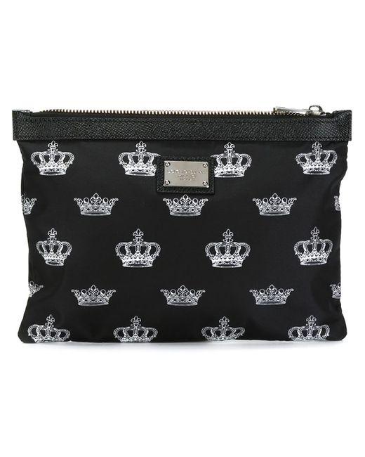 Dolce & Gabbana | Мужское Чёрный Crown Print Pouch