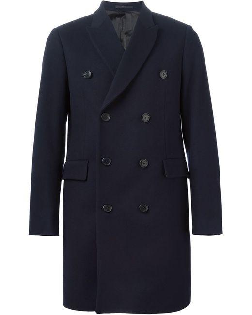 Paul Smith   Мужское Синее Двубортное Пальто