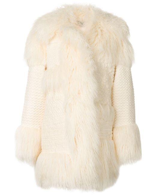 Stella Mccartney | Женское Белое Пальто Ramona Из Искусственного Меха